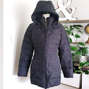Lands' End puffer jacket with removable hood sz S